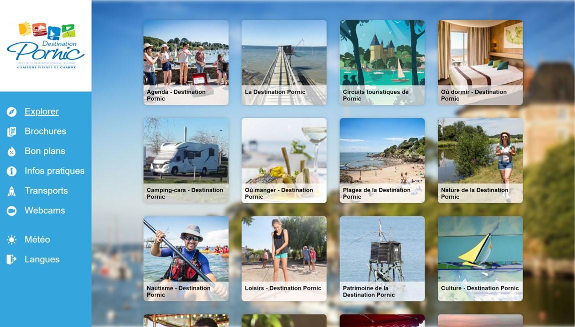 Ecran d'accueil du carnet digital