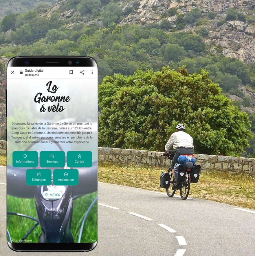 itinérant à vélo et carnet de route
