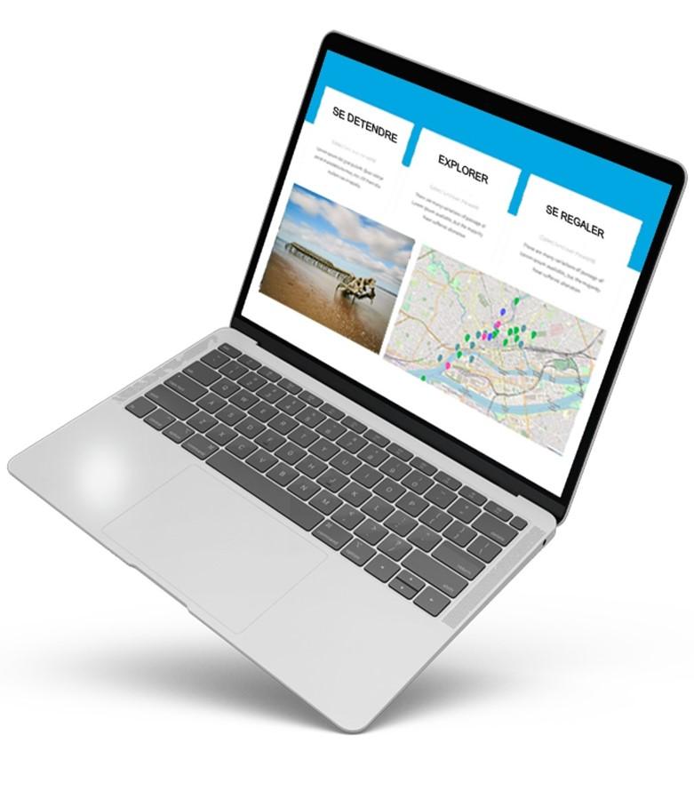 Carte intégrée dans un site web au format iframe